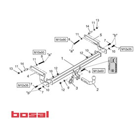 Carlig remorcare BOSAL (Dacia Logan)