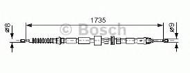 Cablu frana de mana Bosch