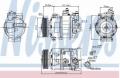 Compresor AC NISSENS 89020