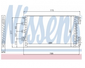 Radiator AC Nissens  94680