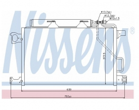 Radiator AC Nissens  94794