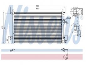 Radiator AC Nissens  94675