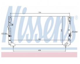 Radiator AC Nissens  94184